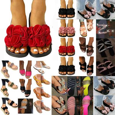 Womens Leopard Printed Sandals Ladies Summer Beach Flip Flop Shoes UK Size 4-7.5