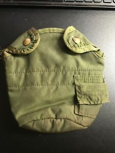 U.S. MILITARY ISSUED 1 QT CANTEEN Pouch w/ BELT CLIPS (bt)