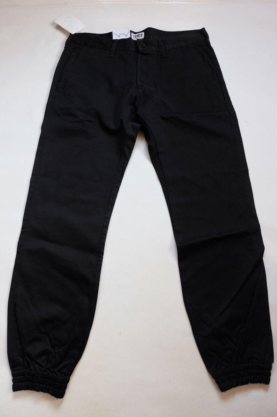 Hose EDWIN Herren 55 JOGGER Hose (compact -schwarz gewaschen) W28 L00 wert     | Guter weltweiter Ruf  | Ausgezeichnetes Handwerk  | Mama kaufte ein bequemes, Baby ist glücklich