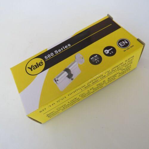 Yale Keyed Alike Cylinder Lock PVC Porte Serrure Euro profil 3 touches même clé Twins