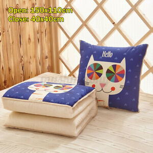 2in1-Pillow-Quilt-Multi-function-Foldable-Throw-Blanket-Cushion-Home-Sofa