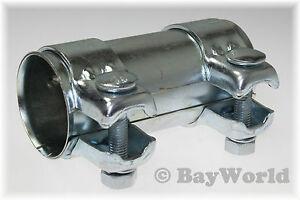 Auspuff Universal Rohrverbinder 50 x 125mm Doppelschelle Audi VW 2 St