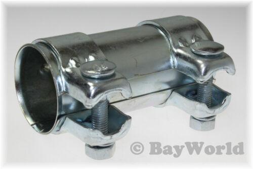 Auspuff Universal V2A Rohrverbinder Edelstahl 70x125 mm Doppelschelle BMW 1St