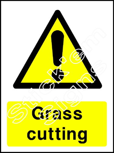Grass cutting COUN0028 stickers /& signs