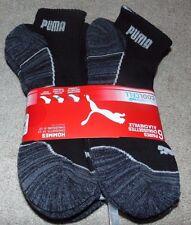 ~6 NWT Men's PUMA Quarter Crew Socks! Sock Size 10-13 Shoe Size 6-12 Nice FS~