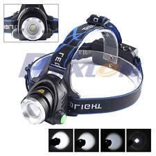 5000LM Zoomable XML XM-L T6 LED 18650 Bike Bicycle Belt Clip HeadLamp HeadLight