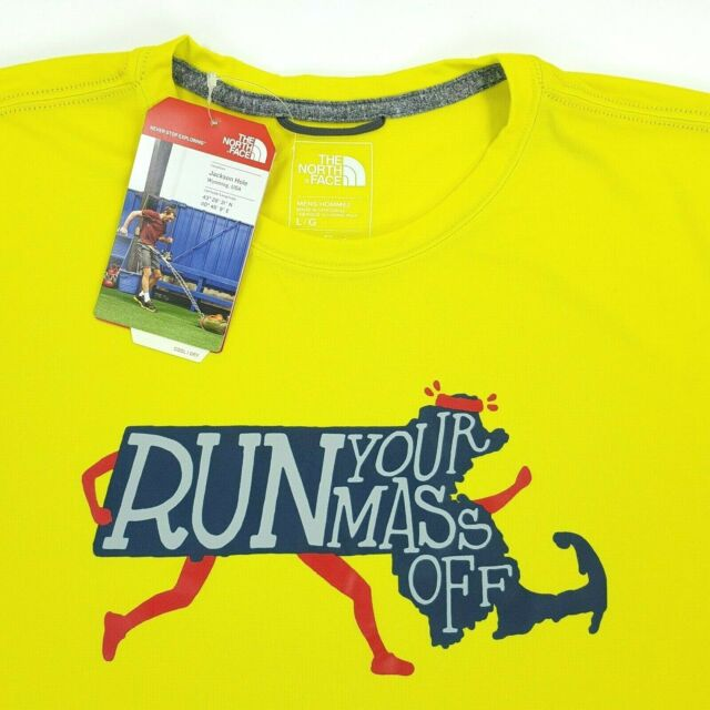 b31a075de North Face Men's Sz L Run Your Mass Off Flash Dry Boston Marathon Running  Shirt