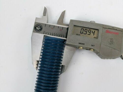 """Blue Teflon Flange Stud 1/"""" Dia 7.25/"""" L 8 TPI B7 Grade ASTM A193 A194 GACB bolt"""