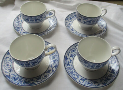 MIKASA MAXIMA ABBEY COURT CK104 CUP & SAUCER SET SET OF 4