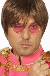 Sonnenbrille-034-John-034-rosa-Glaeser-Karnevalbrille-Faschingsbrille