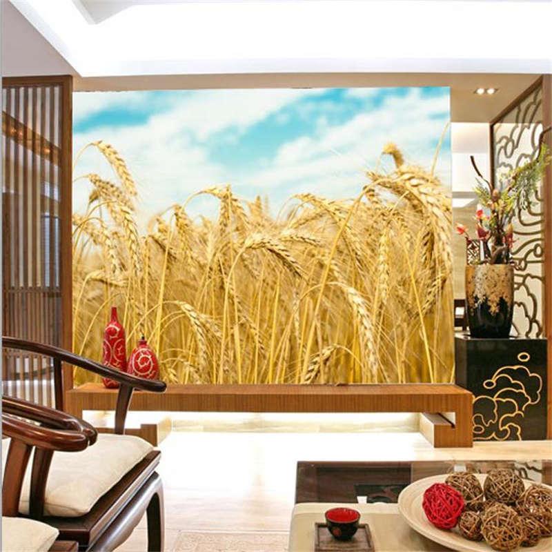 Many Golden Wheats 3D Full Wall Mural Photo Wallpaper Printing Home Kids Decor