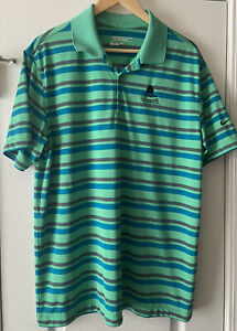 Nike-Golf-Men-039-s-Striped-Dri-Fit-Tour-Preformance-Short-Sleeve-Polo-Shirt-Large