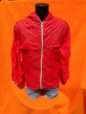 VINTAGE Rain Jacket Veste Chaqueta Waterproof Made in Italy Old School Red K Way