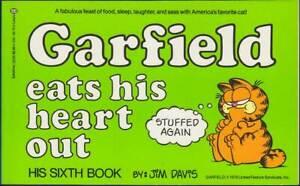 Bien Garfield 6th Book: Garfield Eats His Heart Out (anglais, 1. édition 1983) Z 0-1-afficher Le Titre D'origine