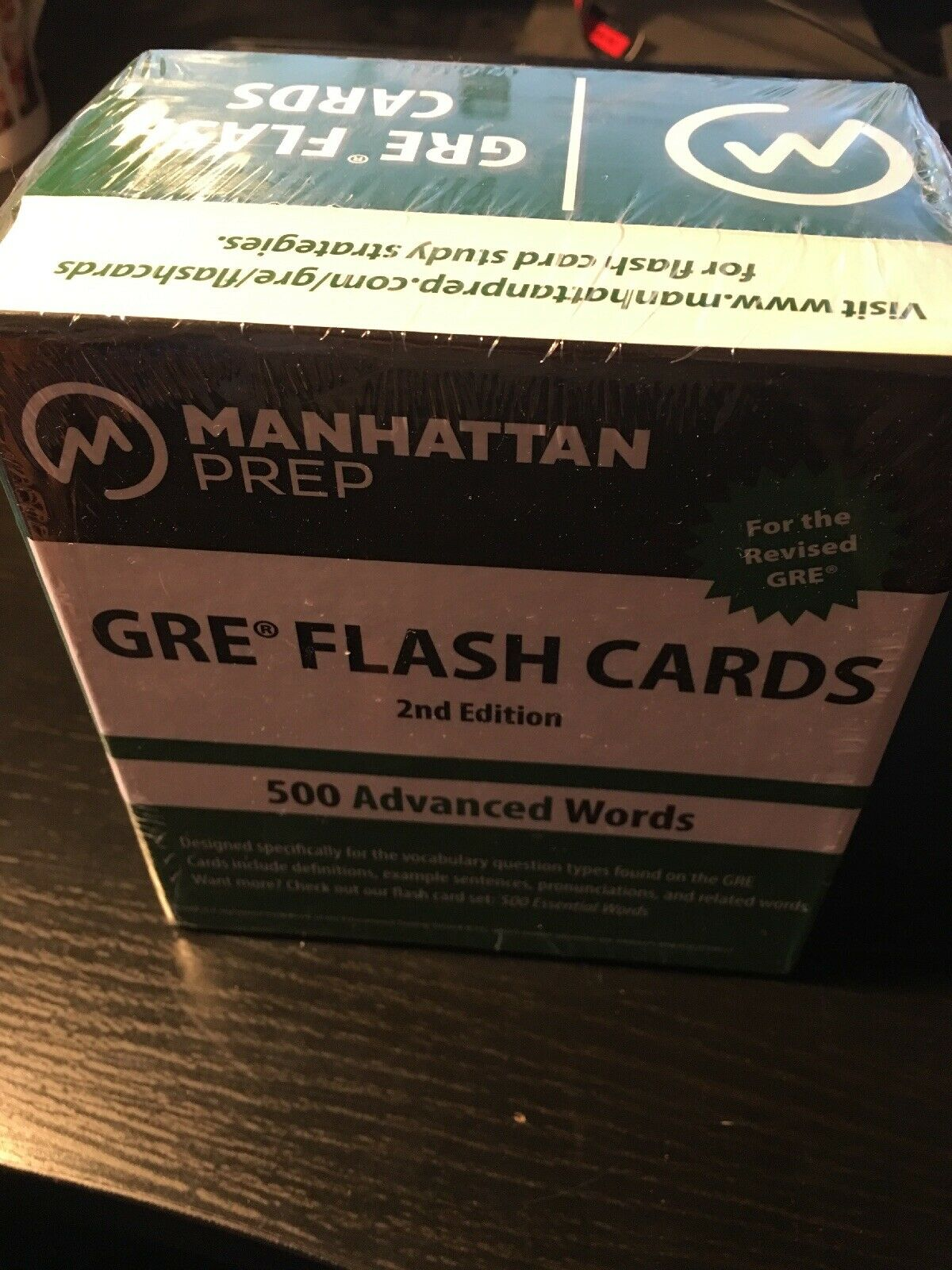 Manhattan Prep GRE Strategy Guides: 500 Advanced Words : GRE Vocabulary  Flash Cards Vol  by Manhattan Prep Staff (2012, Cards,Flash Cards, Revised)