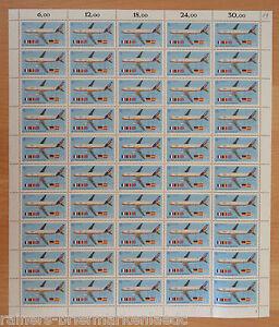 Bund-BRD-CEPT-1367-kompl-Bogen-Europa-Transportmittel-postfrisch-Full-sheet