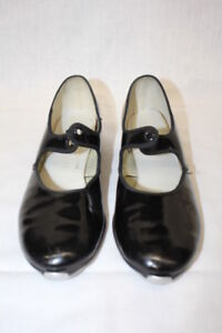 "Comfort Shoes Dance Fashions ""everything In Dancewear"" Black Patent Tap Shoes Womens 6-b18 Volume Large Women's Shoes"