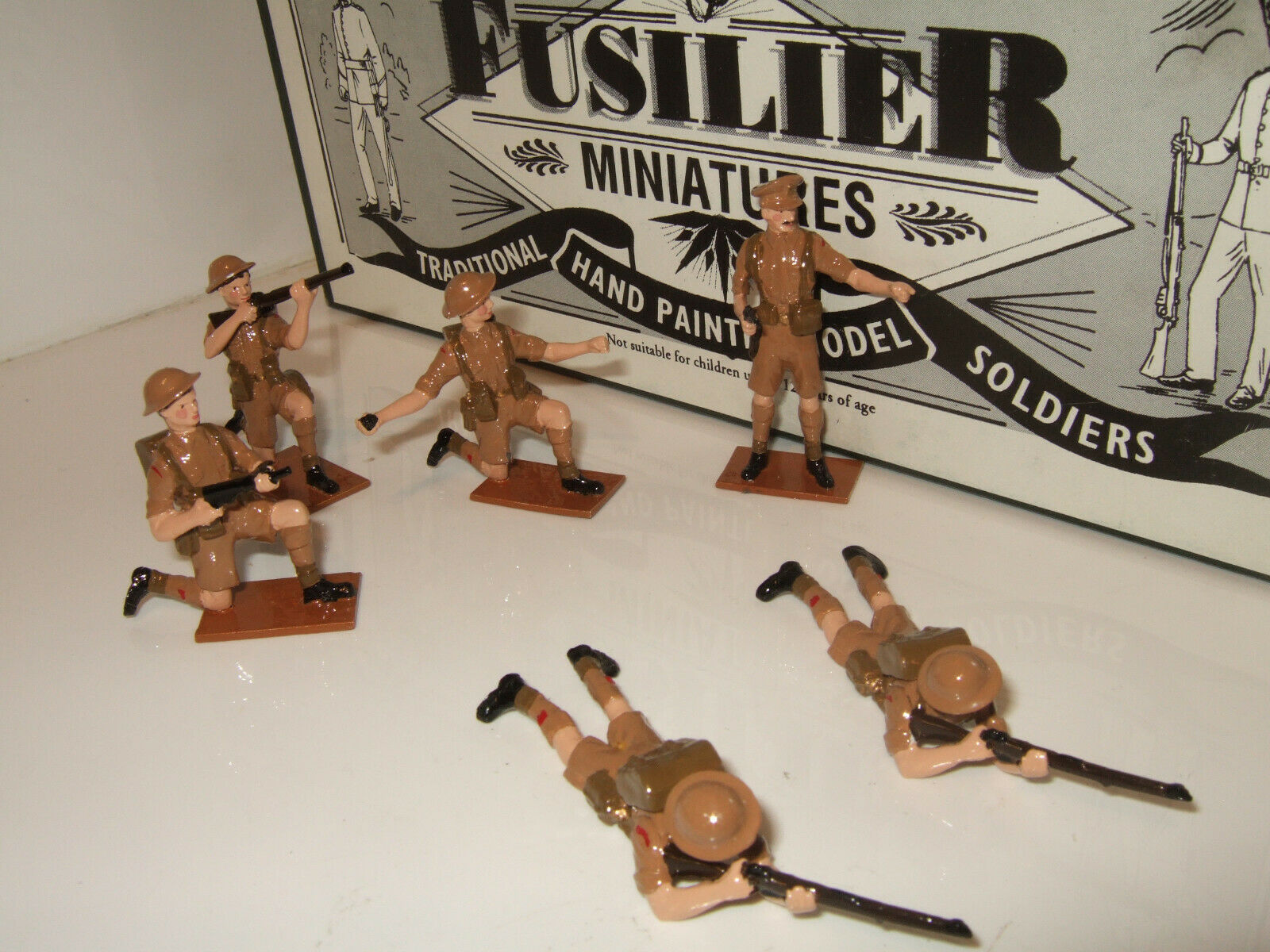 Fusilier Fusilier Miniatures NA2 WW2 N. Africa,Desert British Infantry in Defence in 54mm