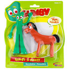 Gumby and Pokey 6 inch Bendable Pair Figures - Licensed Product