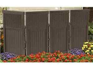 Image Is Loading Privacy Screen Outdoor Garden Folding Wall Panel Trellis