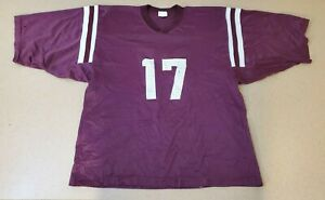 Cherokee Middle School Football Jersey PreOwned Boys Burgundy Maroon White Sport