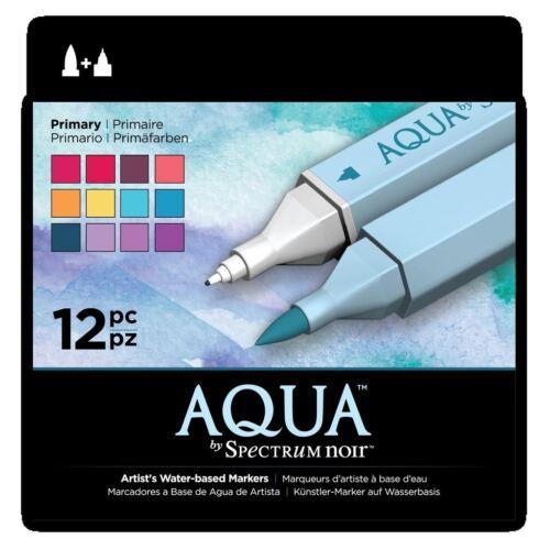 Espectro Noir marcador basados en agua Aqua Art Craft Marcador Bolígrafos-principal 12 Pack