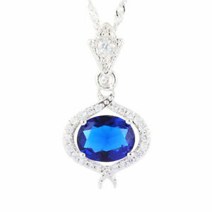 Melina-18K-White-Gold-Plated-CZ-Blue-Sapphire-Oval-Cut-Pendant-Necklace-Chain