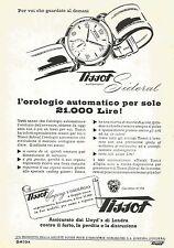 W6034 Orologio Tissot Sideral - Omega - Pubblicità 1952 - Advertising