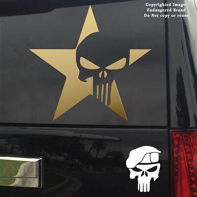 Punisher Star 2nd Sticker Decal windshield door window computer cell phone JDM
