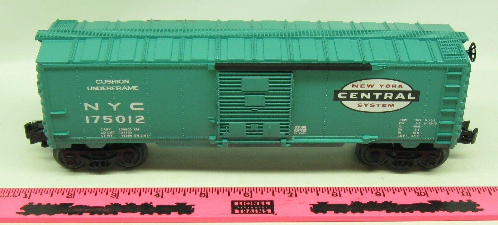 Lionel  83086 New York Central boxcar  175012