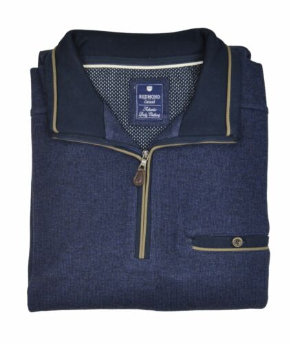 Redmond-Casual Fit-Uomo Troyer con Zipper tipo. n.: 71110 600