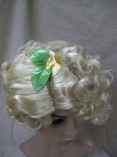 Blonde Fairy Wig Leaves Goddess Roman Greek Christmas Angel Eve Pixie Elf Helper