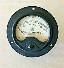 Vintage Dejur Radio Panel Meter 0 100 Ma Dc