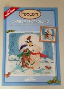 Popcorn-Christmas-cross-stitch-chart-Christmas-carrolling-from-a-magazine