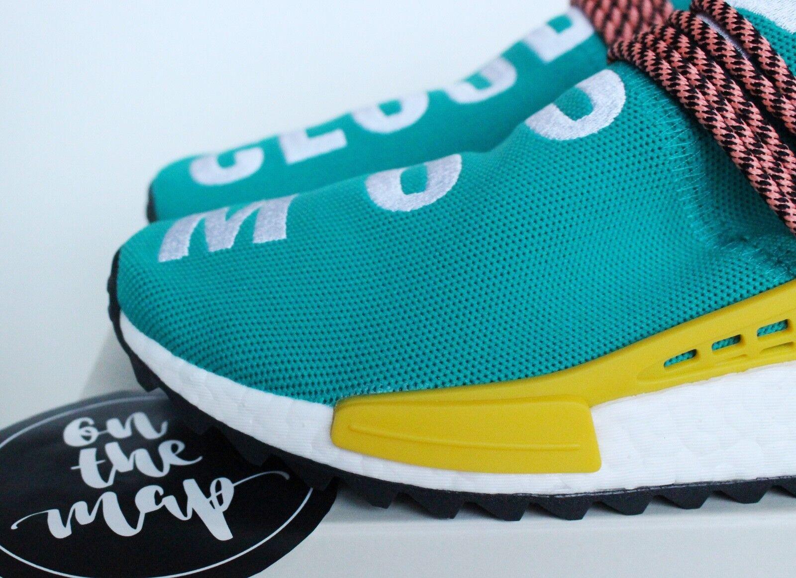 Adidas Pharrell Human Race HU NMD Trail Teal Verde Verde Verde Sun Glow 5 7 8 11 10 12 New 1b6f55