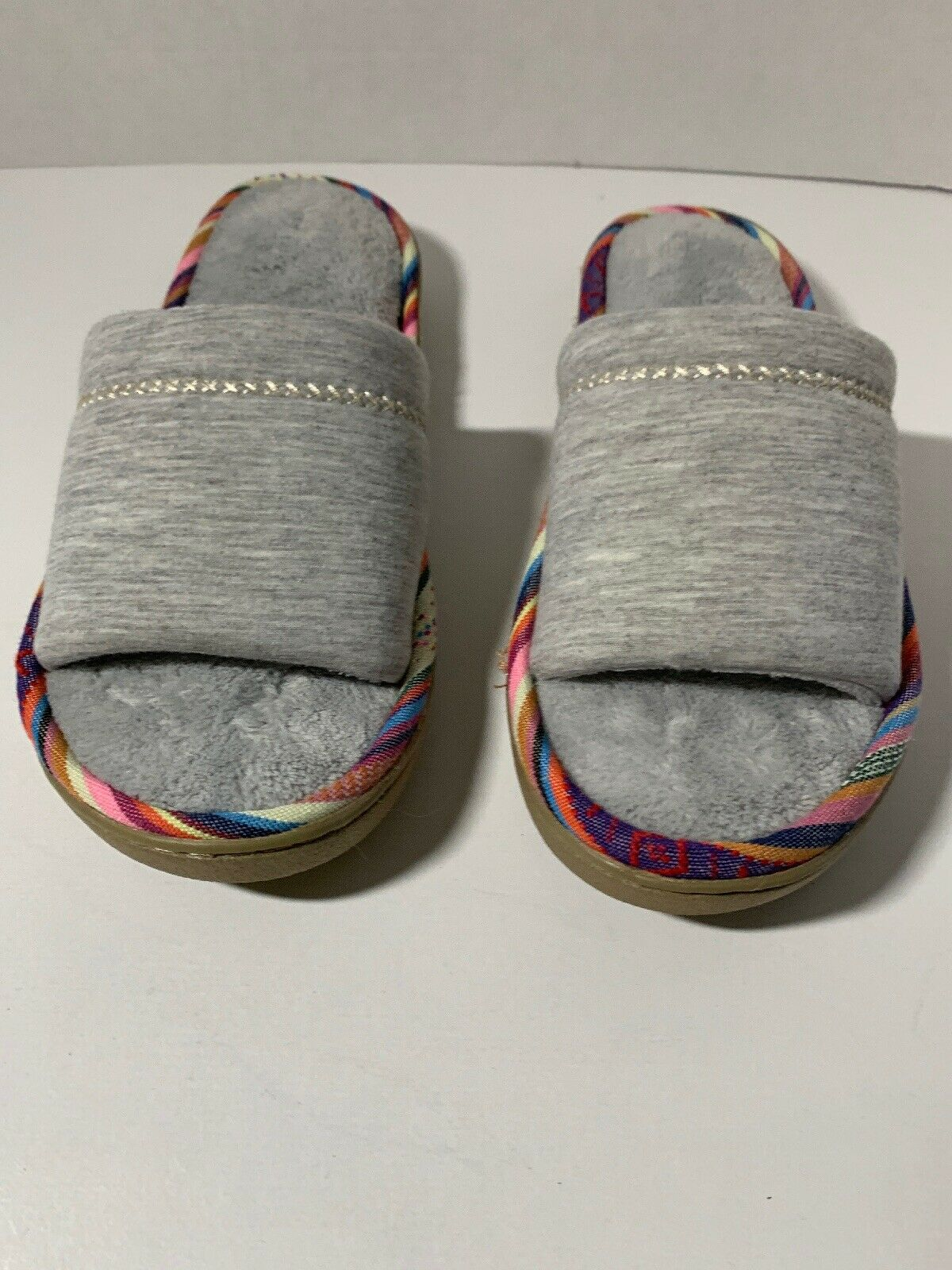 ** Isotoner Gris Space Knit Slide Pantoufles, femme taille 8.5-9