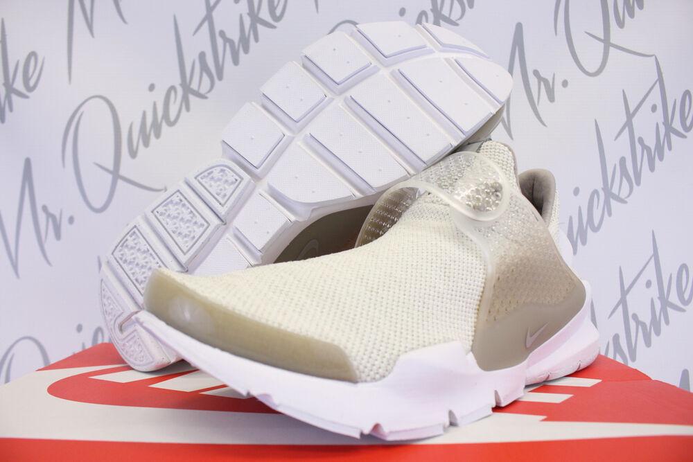 New Hommes Nike Classic Cortez Cuir Se Gris Noir Baskets UK 9.5 861535 007 BN-