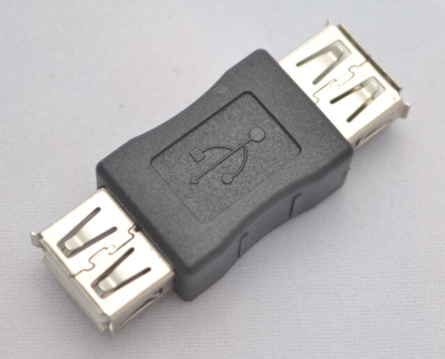 USB 2.0 Plug A Female to Female Coupler Cord Adapter for Extension Cable Port