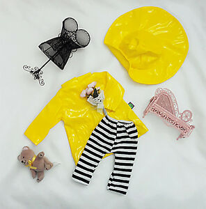 yellow-Raicoat-Dress-Outfit-for-18-inch-doll-american-girl