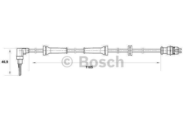 ABS Sensor Front Left 0265007038 Bosch Wheel Speed 46520005 DF10 WS7038 Quality