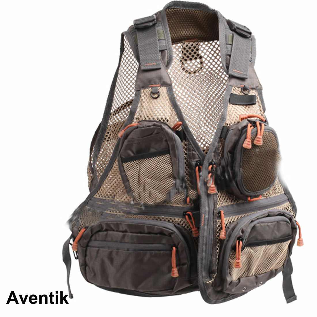 Aventik Super Light Mesh Fabric Fly Fishing Vest,Fishing Mesh Vest Wading NEW
