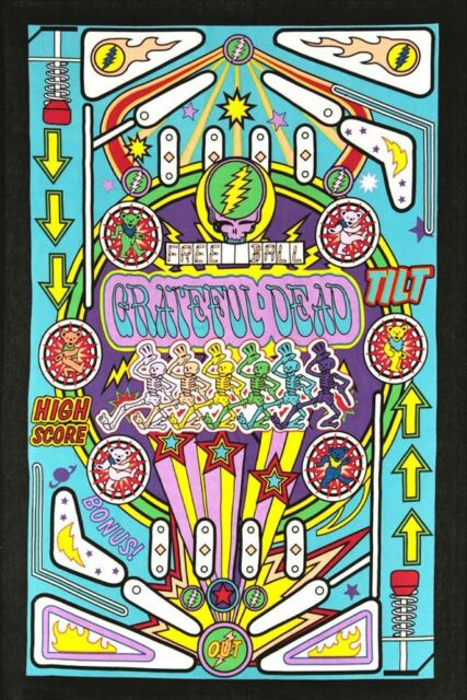 Sunshine Joy 3d Grateful Dead Mini Tapestry Pinball Machine Wall Art ...