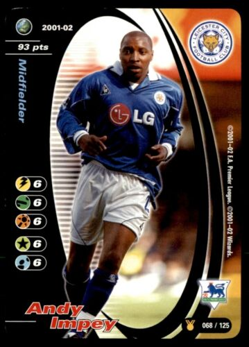 2001//02 ANDY IMPEY Leicester City no 68 titre de race Wizards Of The Coast
