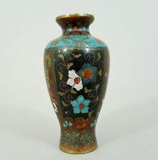 Kleine Cloisonne Vase, China um 1910, Höhe 9 cm