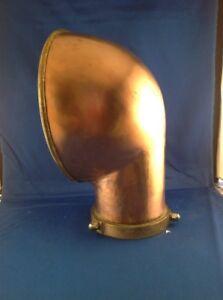 Vintage-Boat-Copper-Cowl-Vent-10-3-4-034-Satin-finish-Bronze-Base