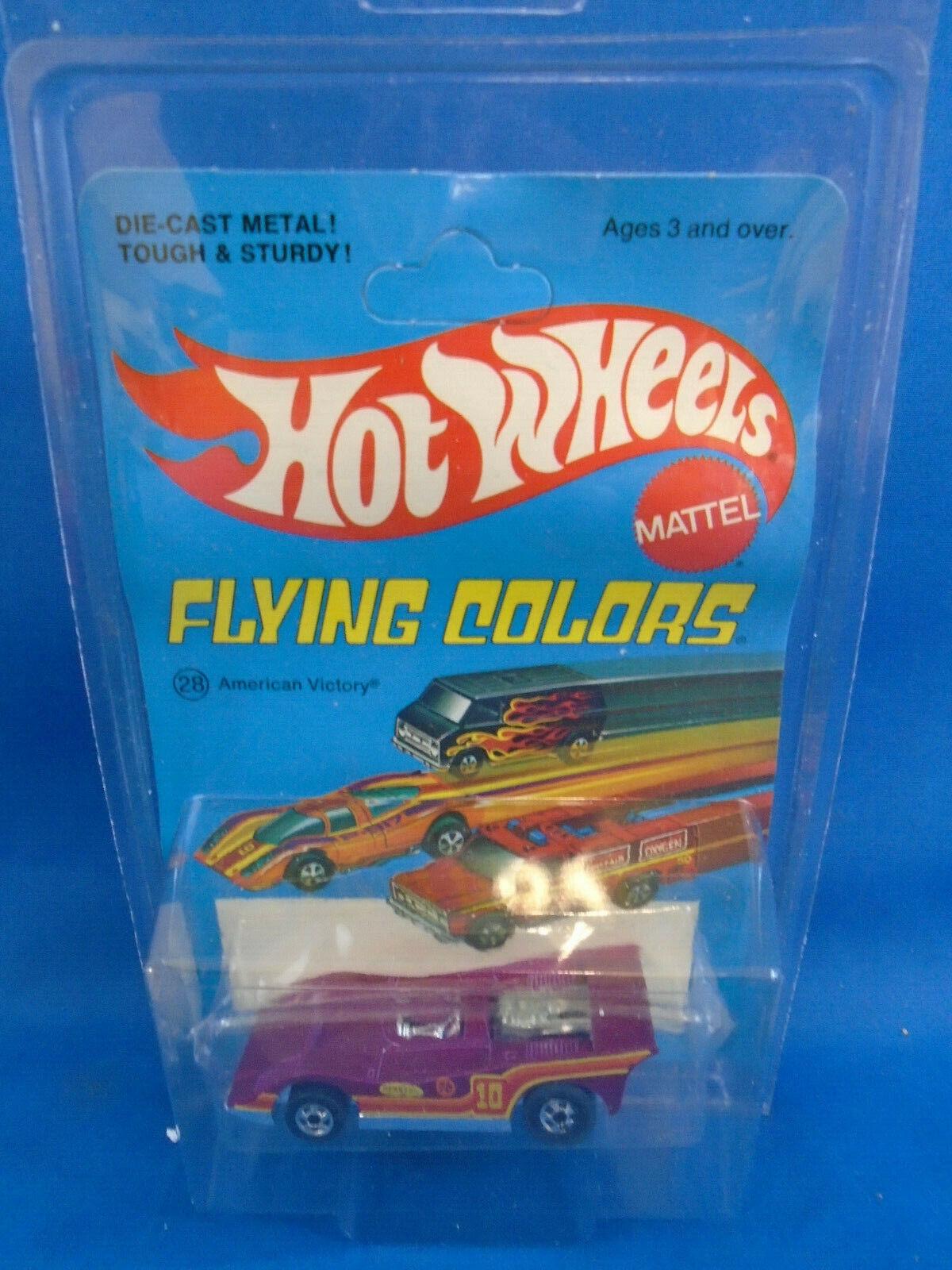Hot Wheels American victoria en Flying Colors tarjeta base de Hong Kong.