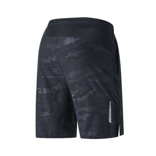 Men/'s Running Shorts with Zip Pockets Quick Dry Breathable Reflective Bottoms