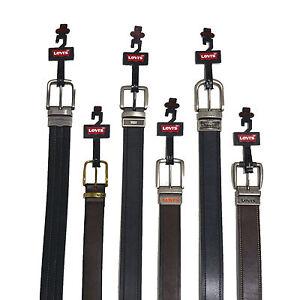 Levi-039-s-Mens-Belt-Genuine-Leather-Reversible-Buckle-Brown-Black-New-Nwt-32-34-38
