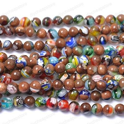 Mixed Quality   Nugget Sand PEARL Round & Loose BEADS Choose 6MM 8MM 10MM 12MM