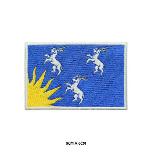 MERIONETH County Flag Embroidered Patch Iron on Sew On Badge For Clothes Etc